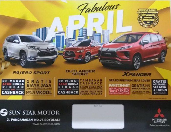 Promo Bulan April Di Dealer Mitsubishi Boyolali